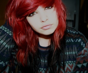 fashion, red hair, and girl image