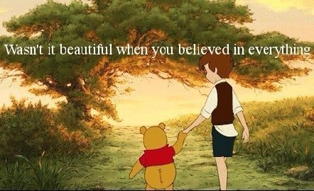 believe, winnie the pooh, and quote image