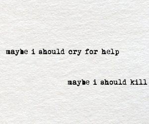 quote, cry, and help image
