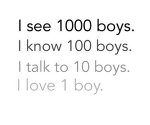love, boy, and see image