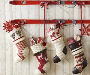 christmas, red, and socks image