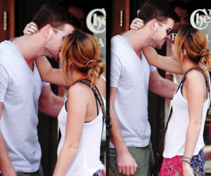 boy, miley cyrus, and couple image
