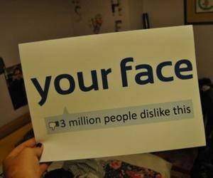 facebook, dislike, and face image
