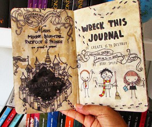 harrypotter and wreck this journal image