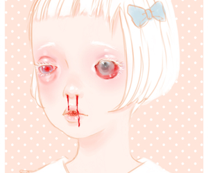 blood, pastel, and sad image