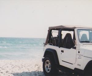 beach, jeep, and car image