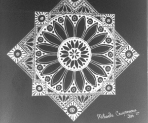 art, black, and mandala image