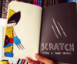 keri smith, wreck this journal, and wolverine image