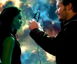 guardians of the galaxy, gamora, and Marvel image