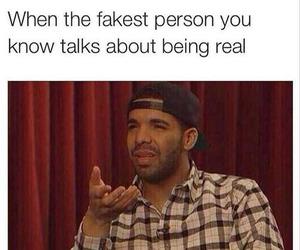 funny, Drake, and real image