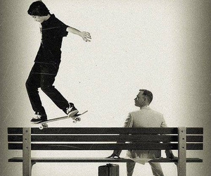 skate and black and white image
