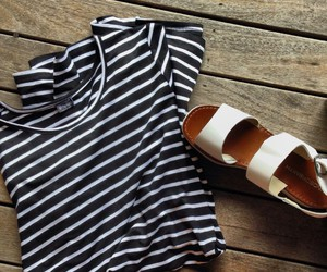 fashion, shoes, and stripped image