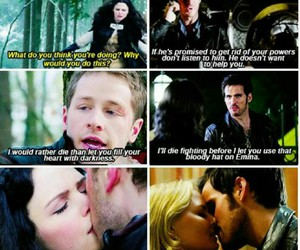 once upon a time, captain swan, and prince charming image