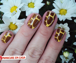 girafa, giraffe, and nail art image
