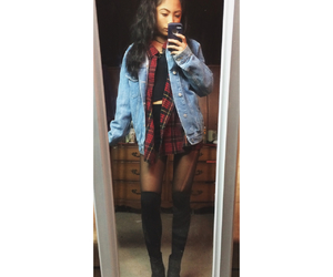 black hair, boots, and cozy image