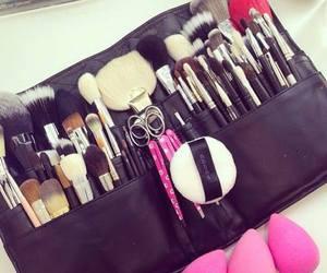 makeup, pink, and girly image