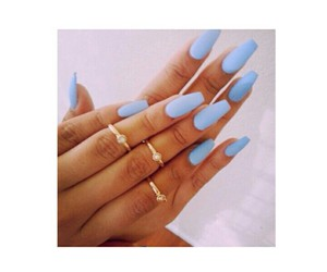 nails, blue, and cute image