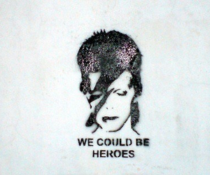 hero, david bowie, and music image
