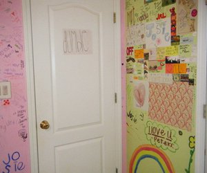 colorful, room, and wall image