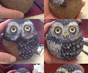 owl, art, and stone image