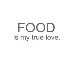 true love and food image