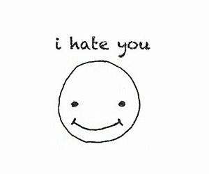 hate, smile, and you image