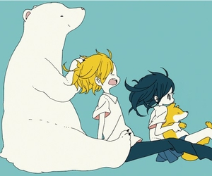 anime, penguin, and bear image