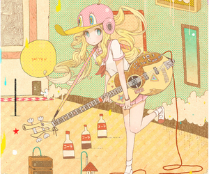 anime, guitar, and cute image