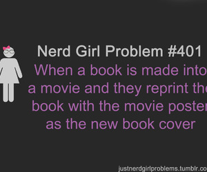 book, girl, and movie image