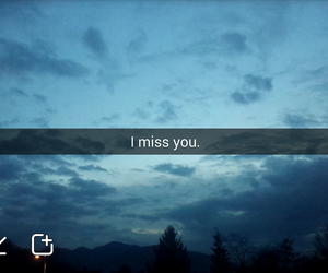blue, i miss you, and quote image