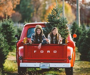 girl, friends, and christmas image