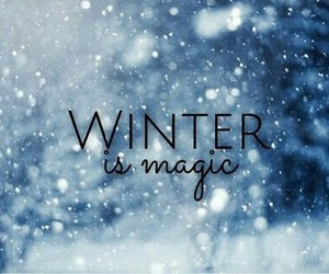 winter, snow, and magic image