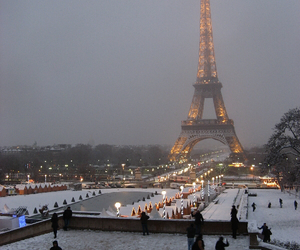 city, france, and tower eiffel image