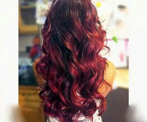 curls, hair, and long image