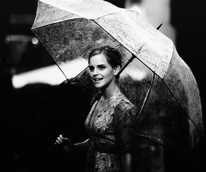 black and white, emma watson, and harry potter image