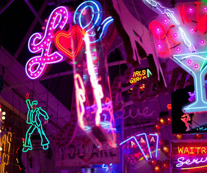 glow, neon, and pink image