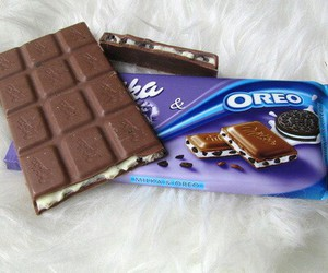 oreo, chocolate, and milka image