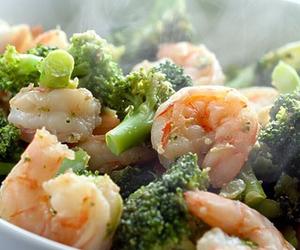 food, broccoli, and shrimp image