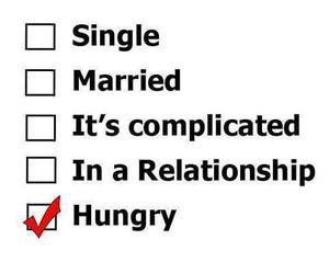 hungry and single image