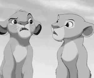 lion, disney, and simba image