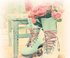 pastel, flowers, and vintage image