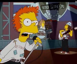 sex pistols and simpsons image
