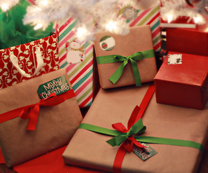christmas, colourful, and gifts image
