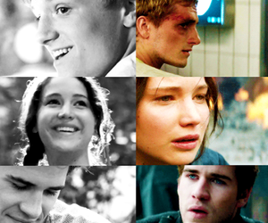 peeta, gale, and katniss image