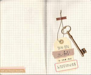 happines, quote, and key image