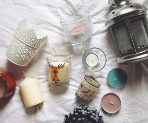 candle, christmas, and ikea image