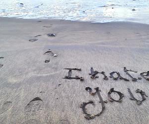 beach, goodbye, and love image