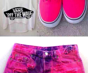 pink, outfit, and vans image