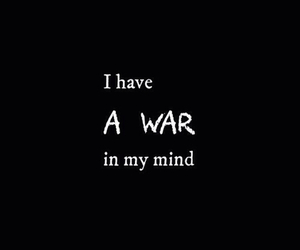 war, quote, and mind image