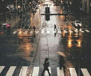 city, ciudad, and lluvia image